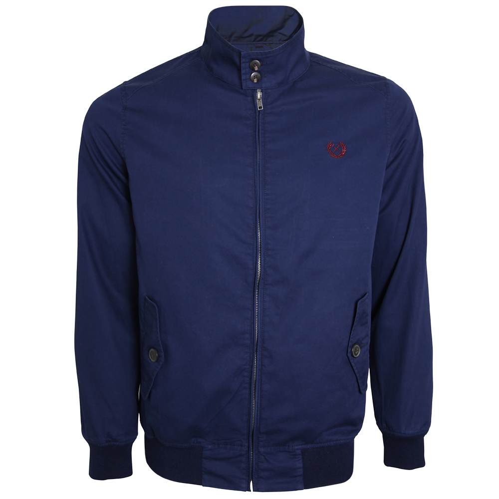 NAVY LAUREL HARRINGTON JACKET