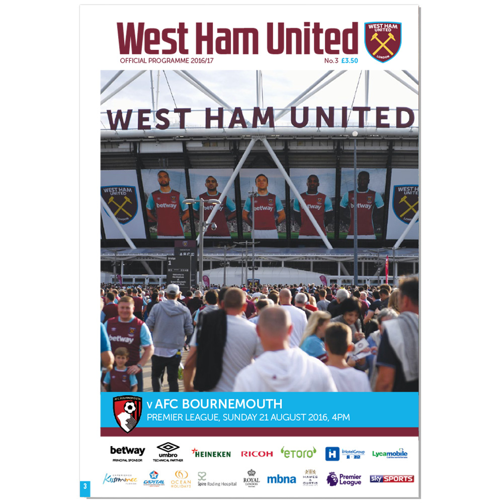 MATCHDAY PROGRAMME 16/17 - AFC BOURNEMOUTH