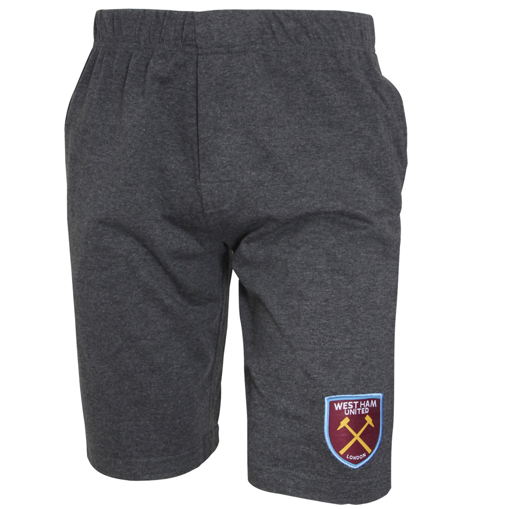 MENS GREY MARL LOUNGE SHORTS