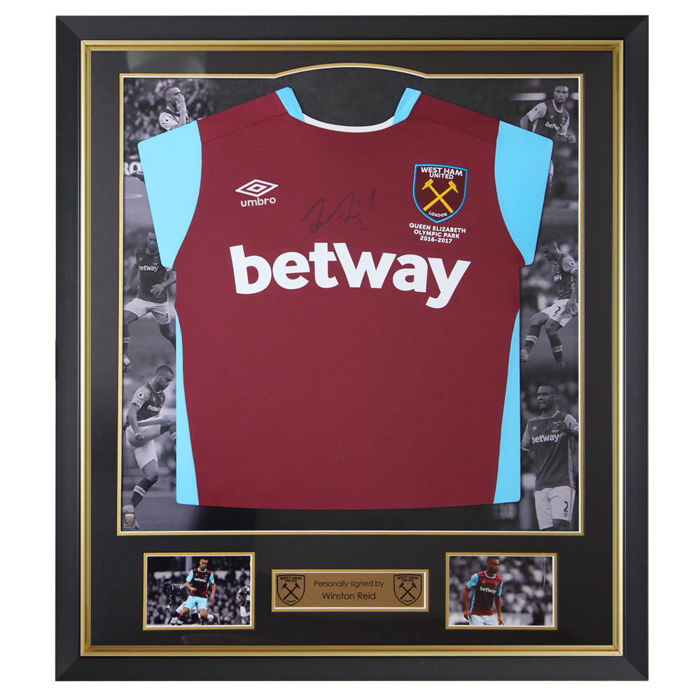 FRAMED 16/17 REID SIGNED HOME SHIRT