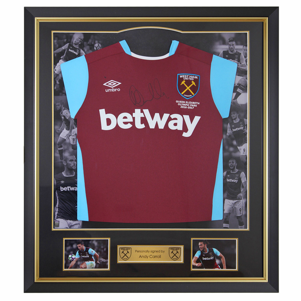 FRAMED 16/17 CARROLL SIGNED HOME SHIRT