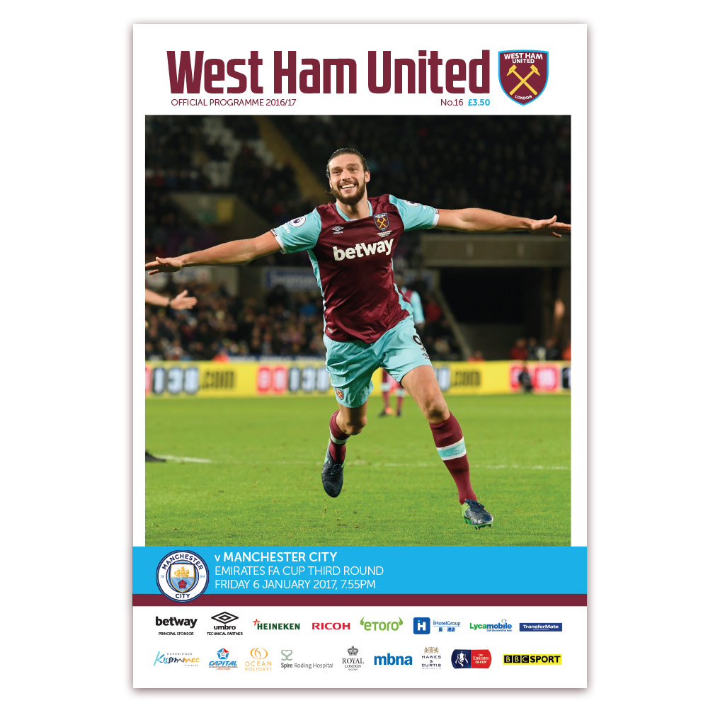 MATCHDAY PROGRAMME 16/17 - FA CUP MAN CITY