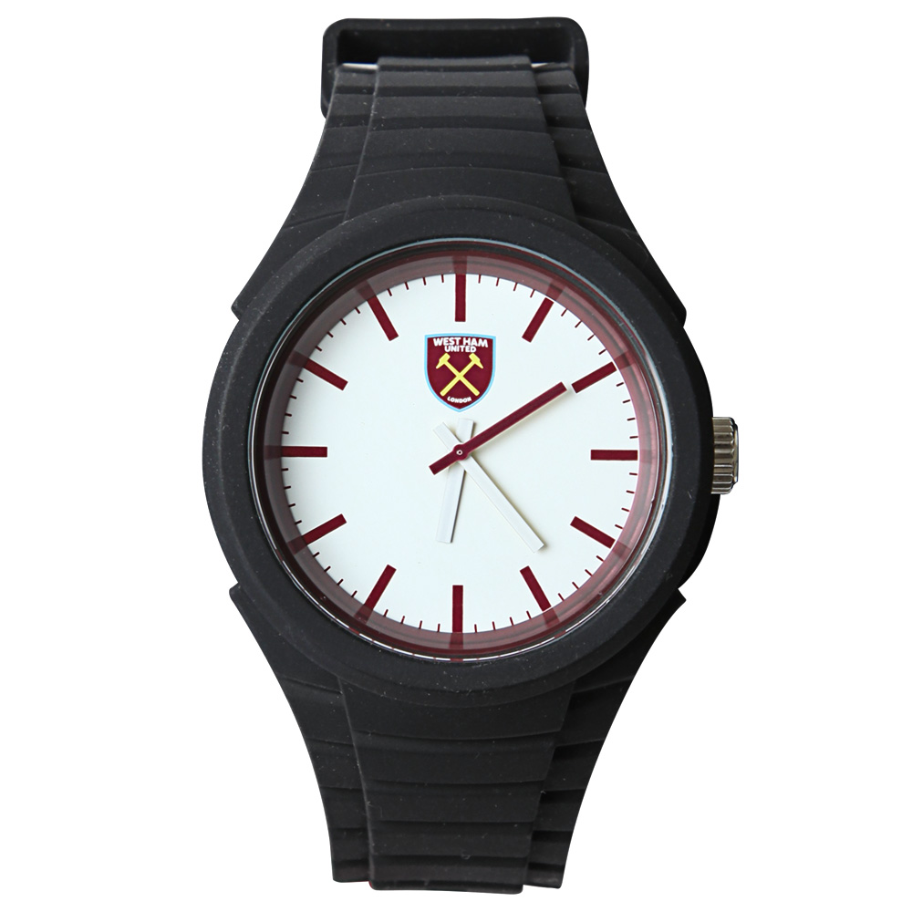 BLACK STRAP CREST WATCH