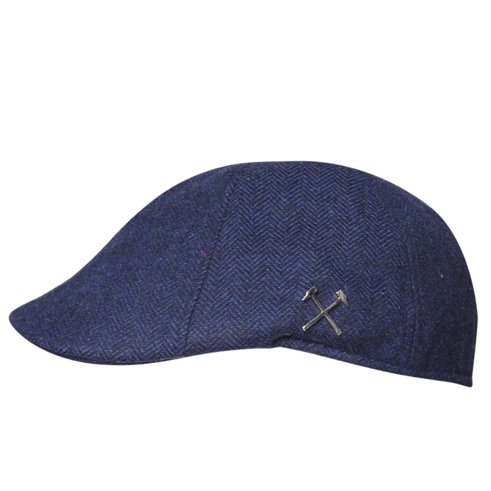 CLARET COLLECTION - NAVY FLAT CAP