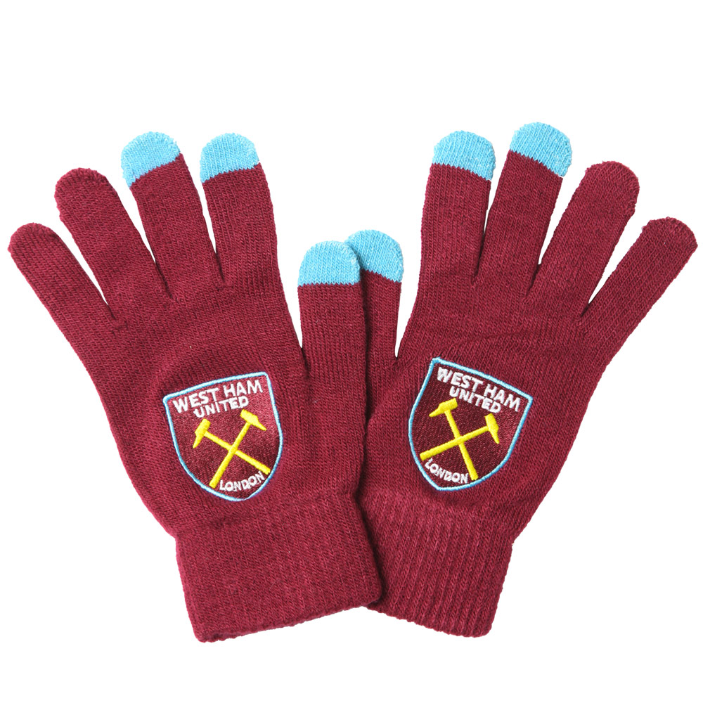 YOUTH TOUCH SCREEN GLOVES CLARET/BLUE