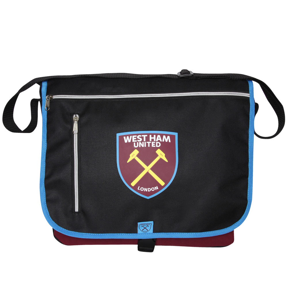 MESSENGER BAG BLACK/CLARET