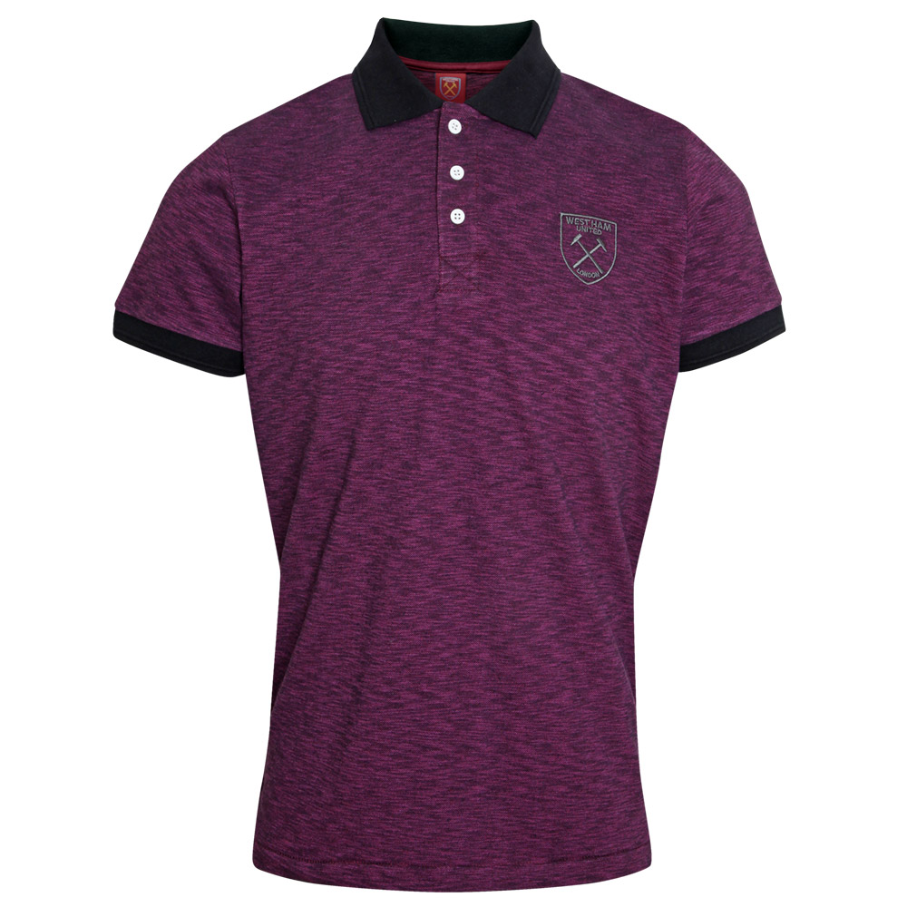 CLARET SPACEDYE POLO