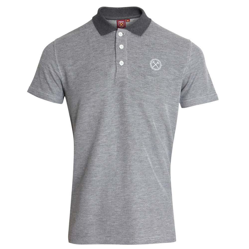 GREY BRUSHED PIQUE POLO