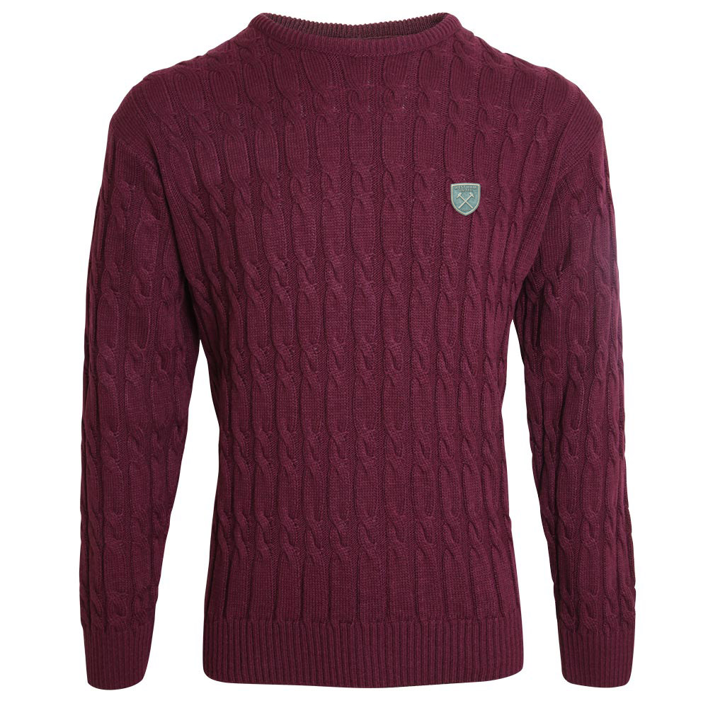 CLARET CABLE KNIT JUMPER