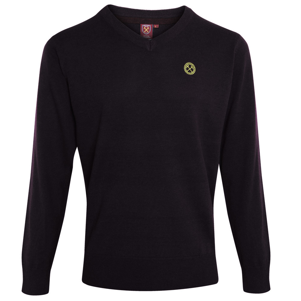 2440 - BLACK MARL V-NECK JUMPER