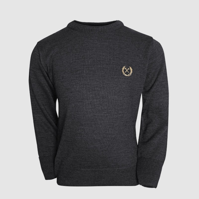 2430 - JUNIOR BLACK MARL JUMPER