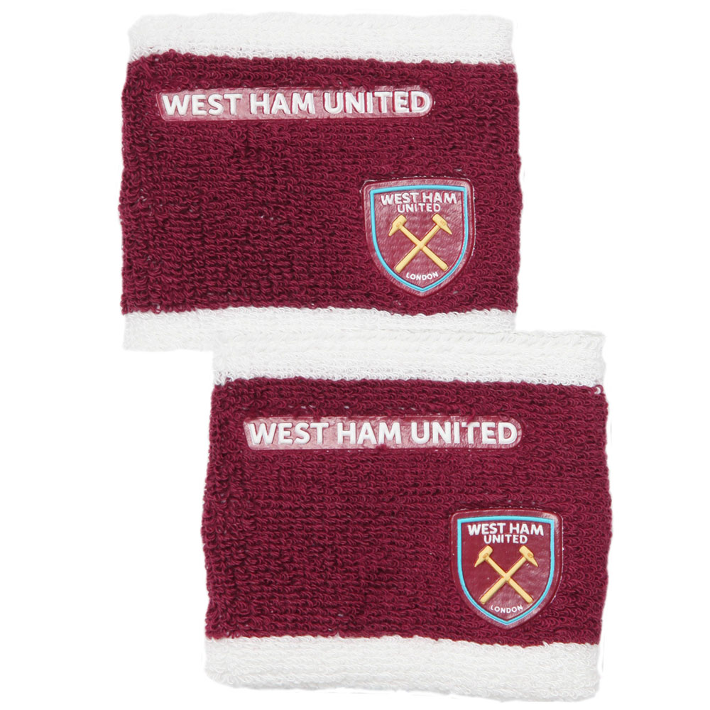CLARET/WHITE SWEATBANDS