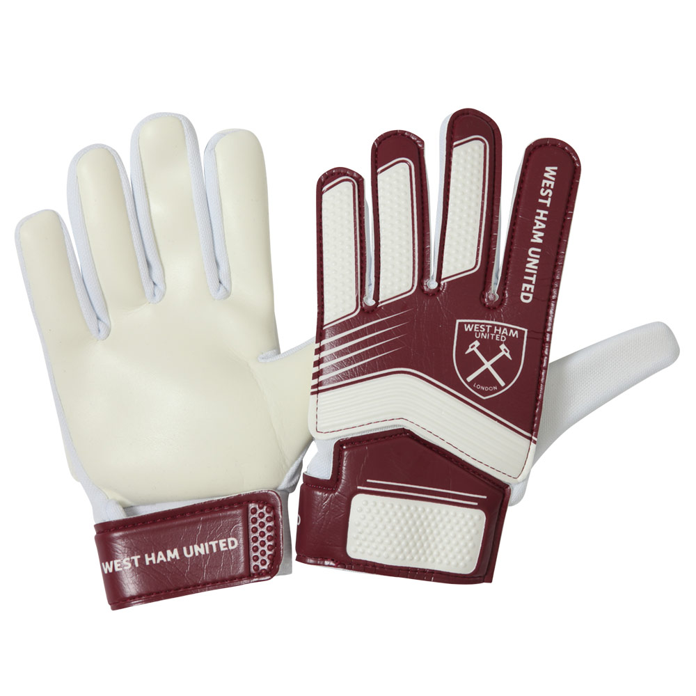 BOYS CLARET/WHITE GOALKEEPER GLOVES
