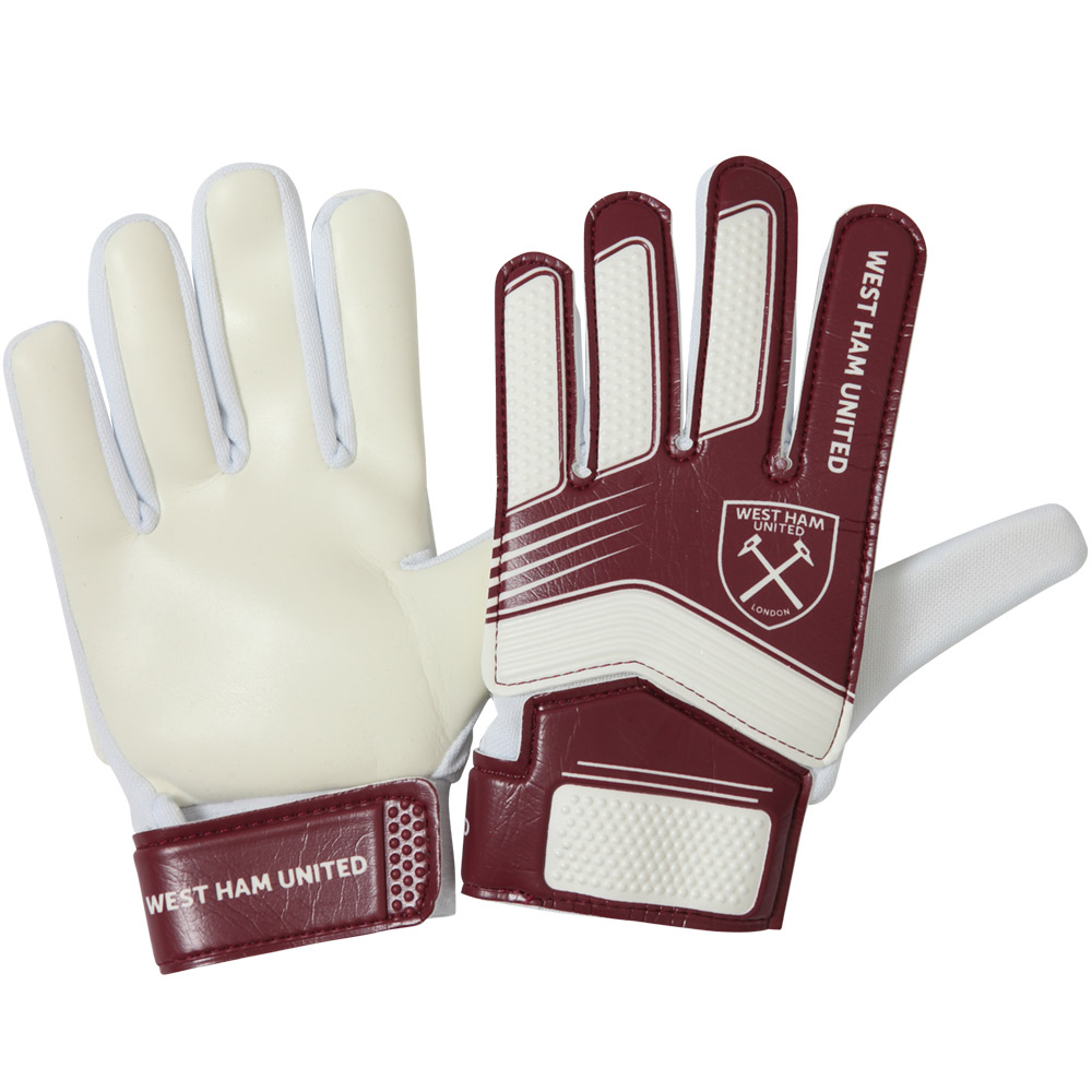 YOUTH CLARET/WHITE GOALKEEPER GLOVES