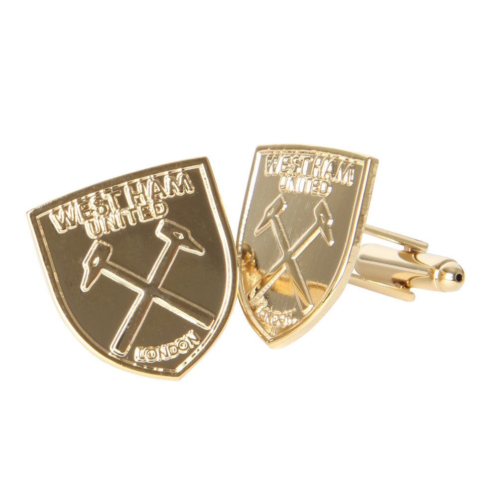GOLD PLATED CREST CUFFLINKS