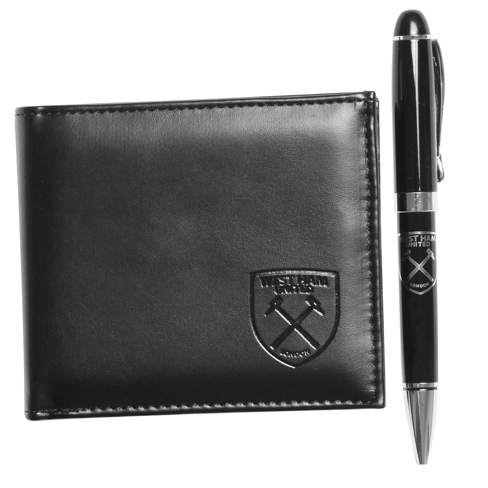LEATHER WALLET & PEN SET