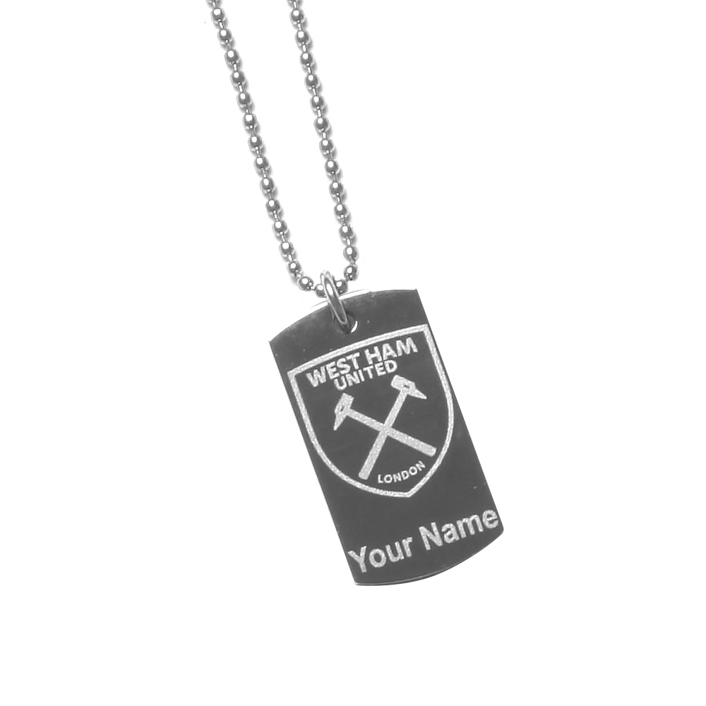 YOUR NAME ENGRAVED DOG TAG & CHAIN