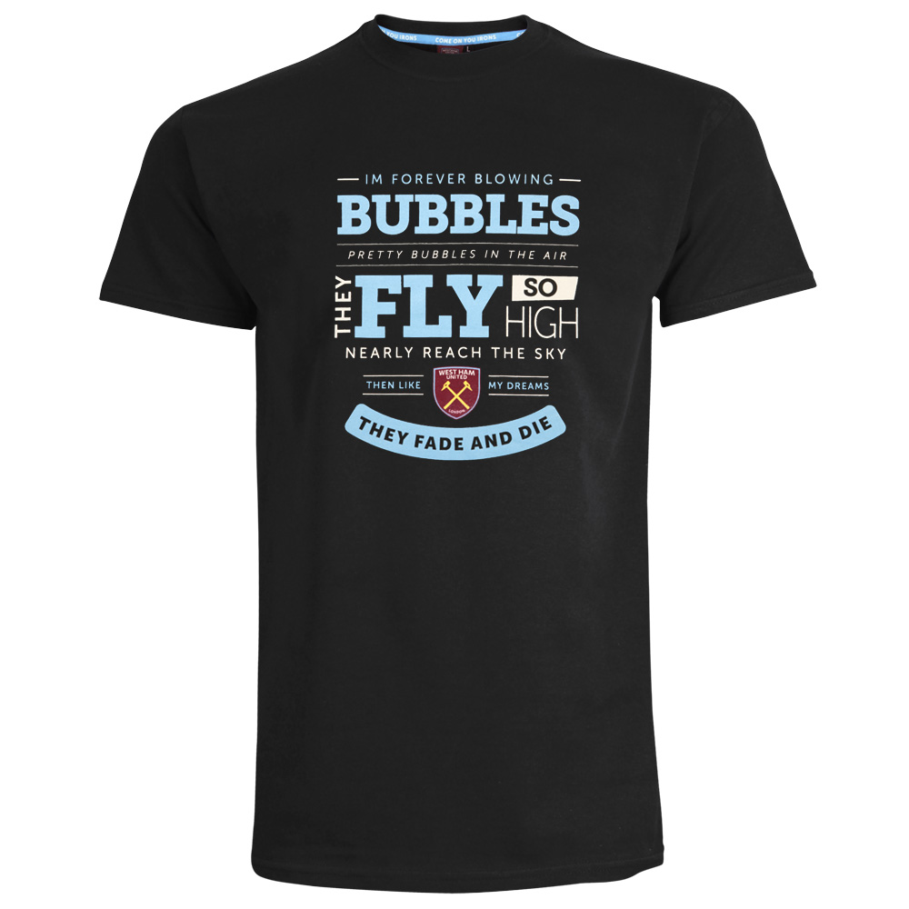 2420 - BLACK BUBBLES LYRICS T-SHIRT