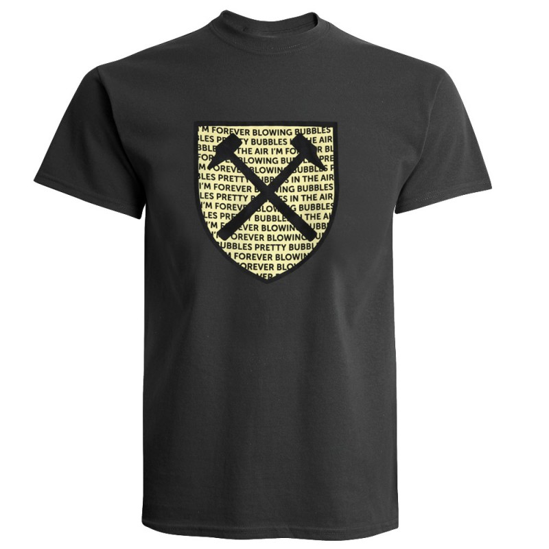 CHARCOAL FELT SHIELD T-SHIRT