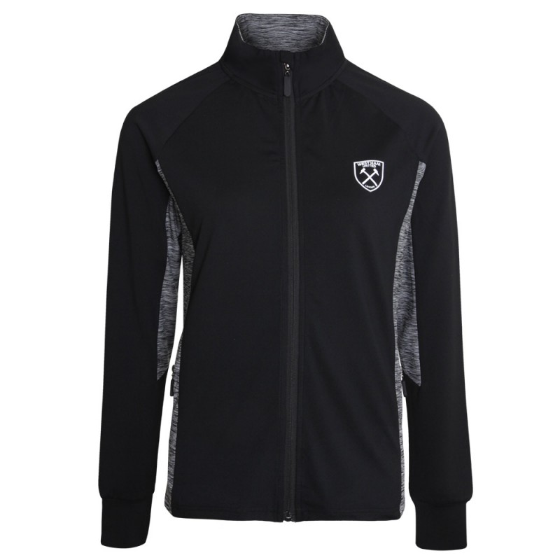 LADIES BLACK ACTIVE COLLECTION - TRACK TOP