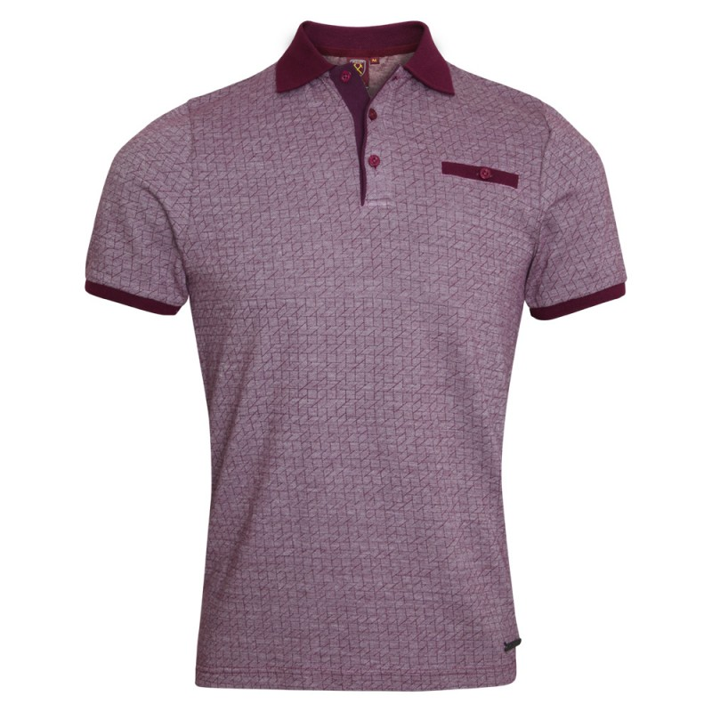 CLARET PATTERNED POLO