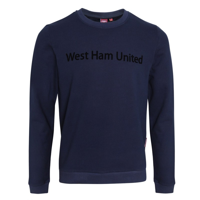 NAVY WEST HAM UNITED SWEATSHIRT
