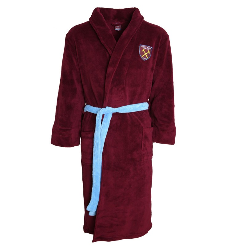 MENS CLARET DRESSING GOWN