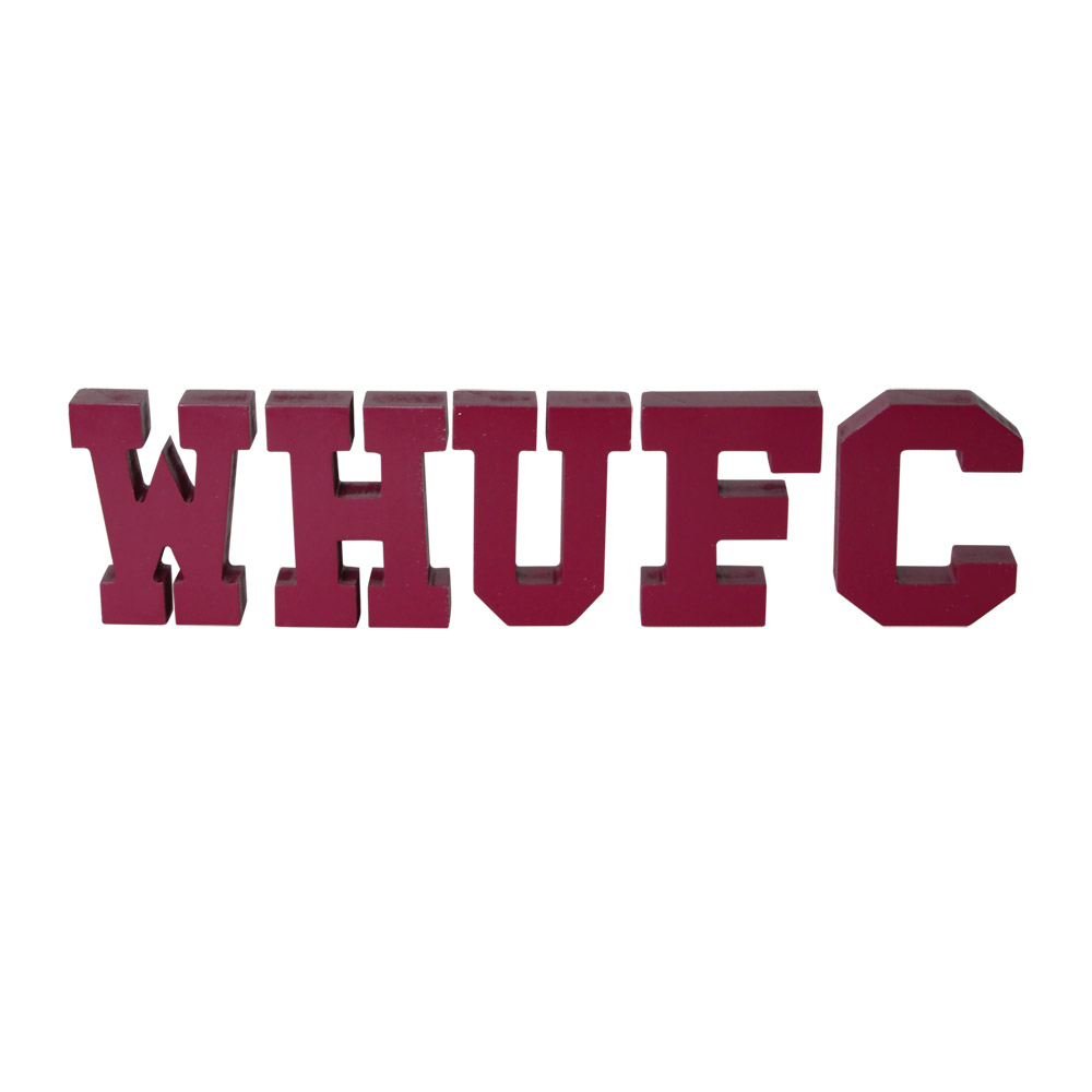 WHUFC WOODEN LETTER BLOCKS