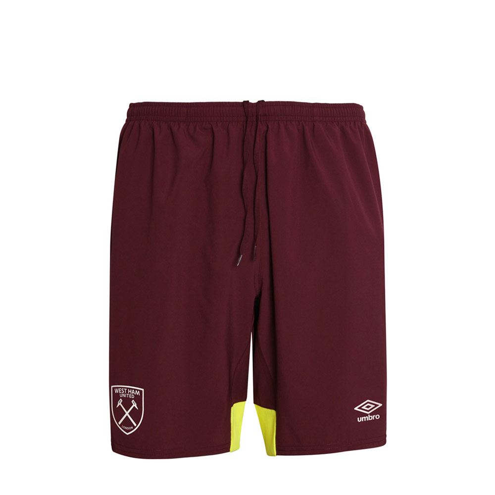 2018/19 JUNIOR TRAINING WOVEN SHORTS ZINFANDEL