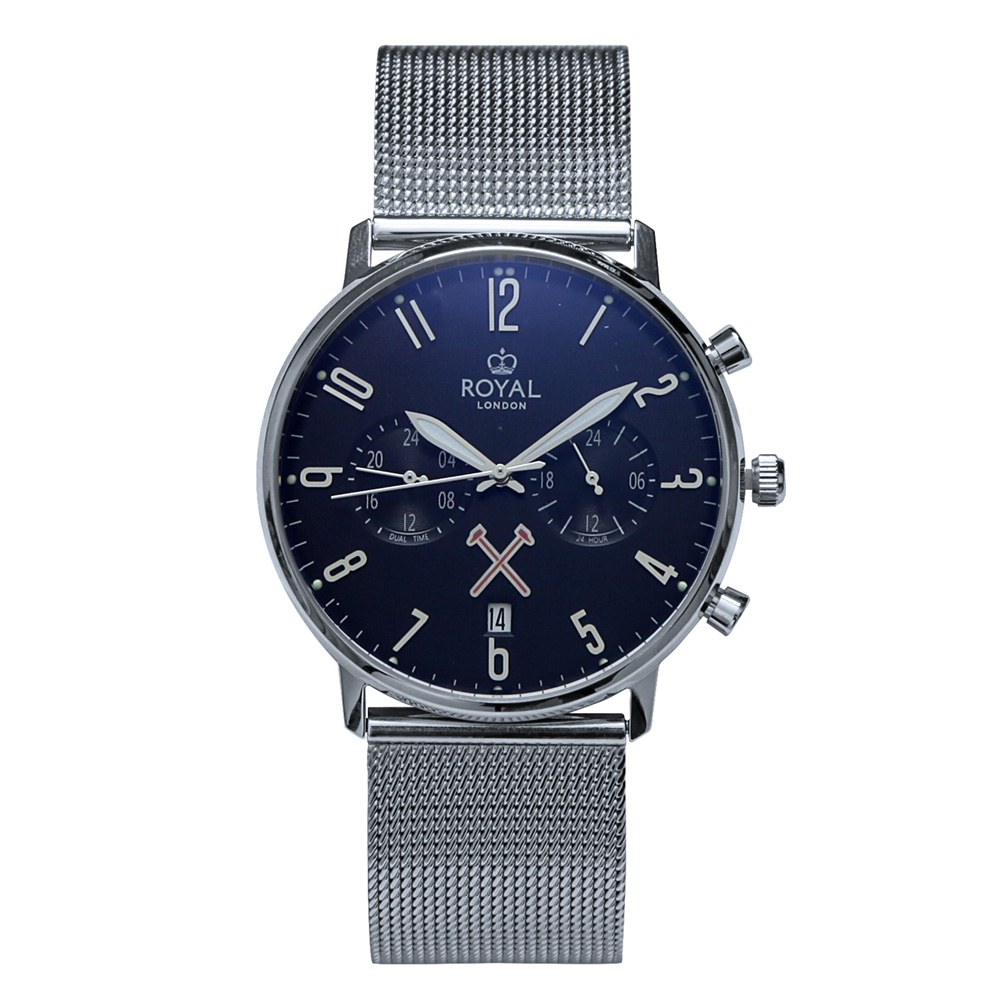 ROYAL LONDON 19 SS DUAL TIME BRACELET WATCH