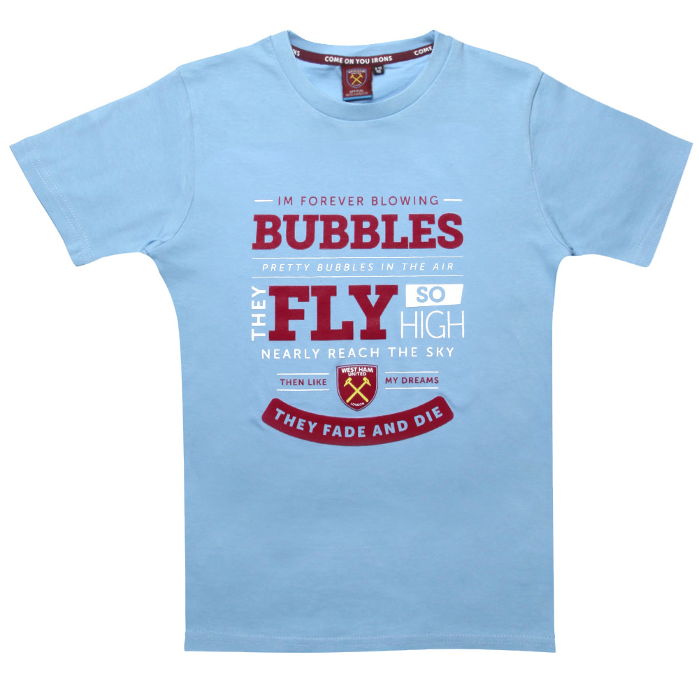 2418 - SKY BUBBLES LYRICS T-SHIRT