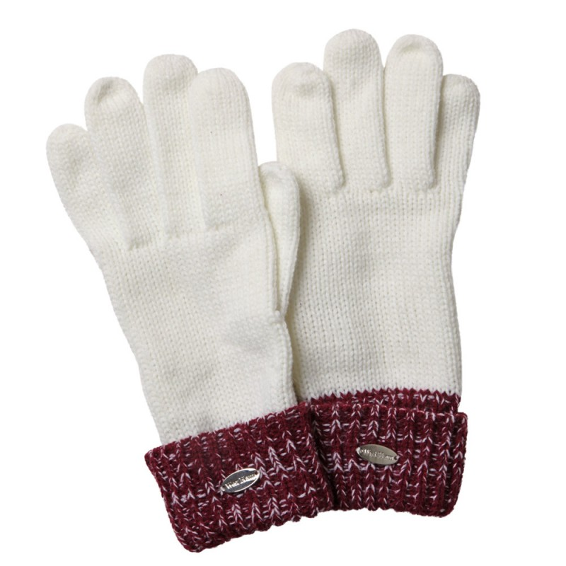 ECRU/CLARET GLOVES