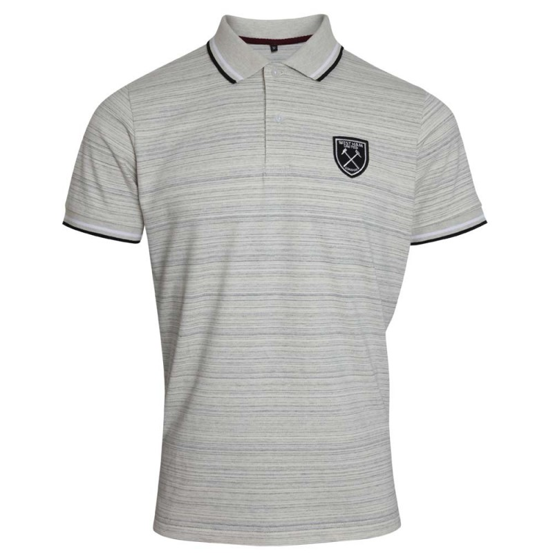 BLACK CREST GREY POLO