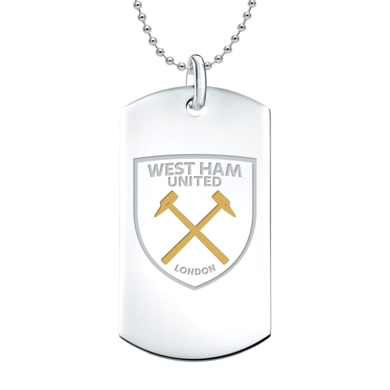 COLOUR CREST DOG TAG AND CHAIN