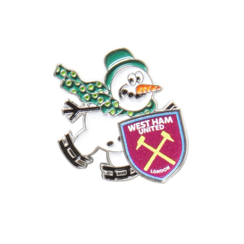 SKATING SNOWMAN BADGE