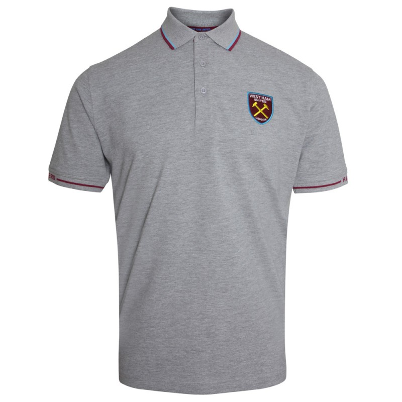 GREY MARL TIPPED HAMMERS SLEEVE POLO