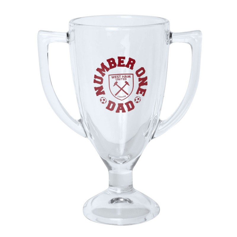 NUMBER ONE DAD TROPHY GLASS