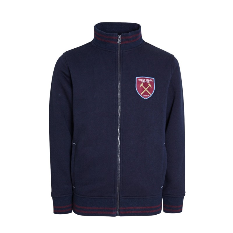 JUNIOR NAVY FULL ZIP TRACK JACKET