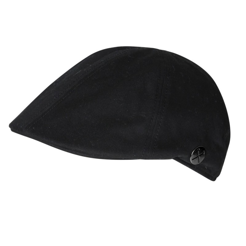 CLARET COLLECTION - BLACK FLAT CAP