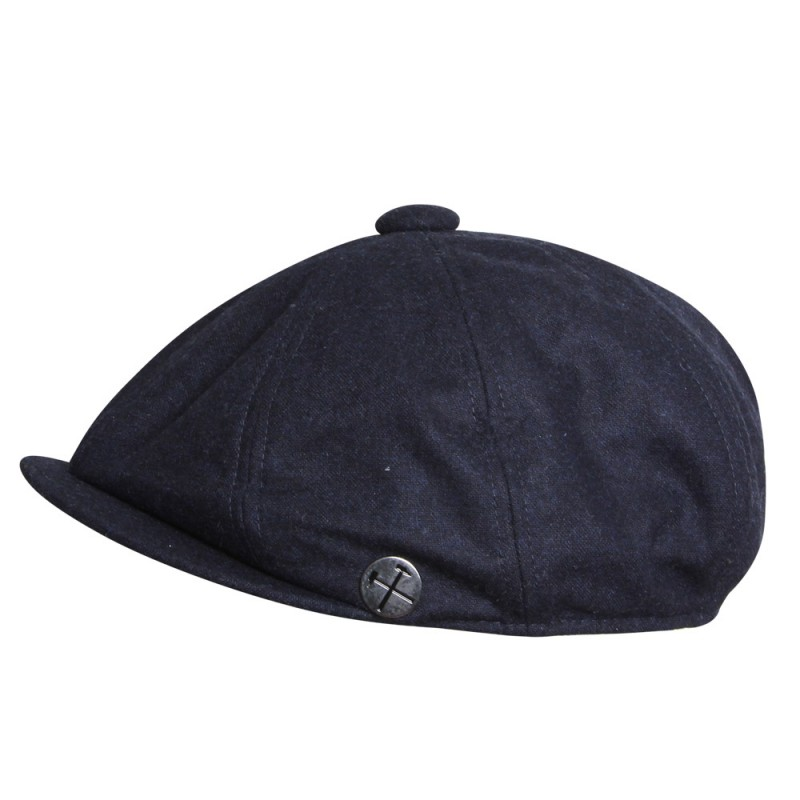 CLARET COLLECTION - NAVY BAKER BOY CAP