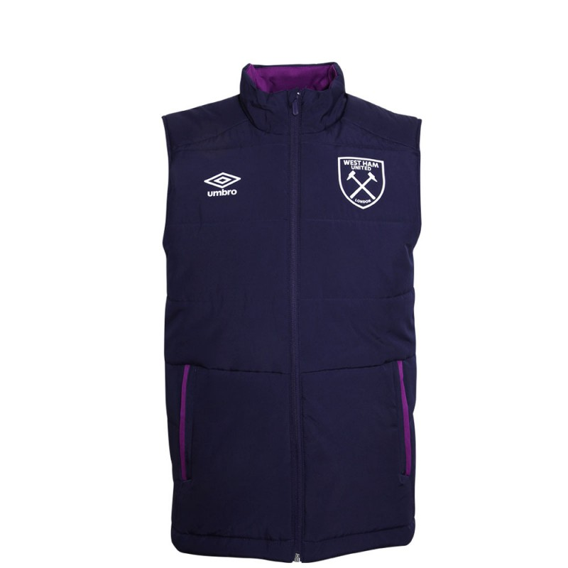 WEST HAM 19/20 ADULTS PADDED GILET