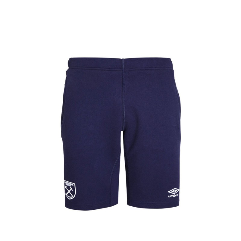 2019/20 JUNIOR PRO FLEECE SHORTS - EVENING BLUE