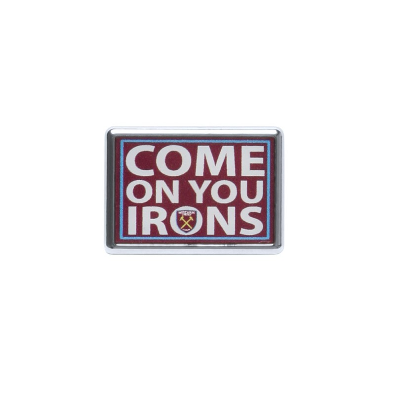 COME ON YOU IRONS PIN BADGE