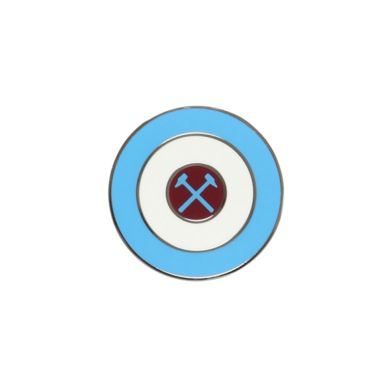 CROSSED HAMMERS TARGET PIN BADGE