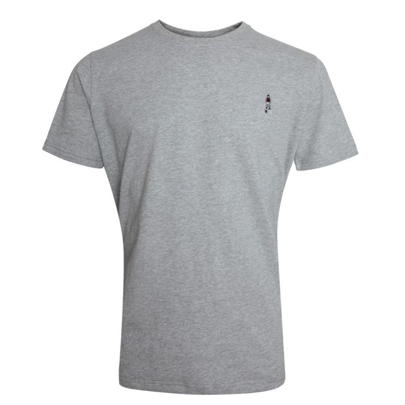 GREY EMBROIDERED FIGURE T-SHIRT