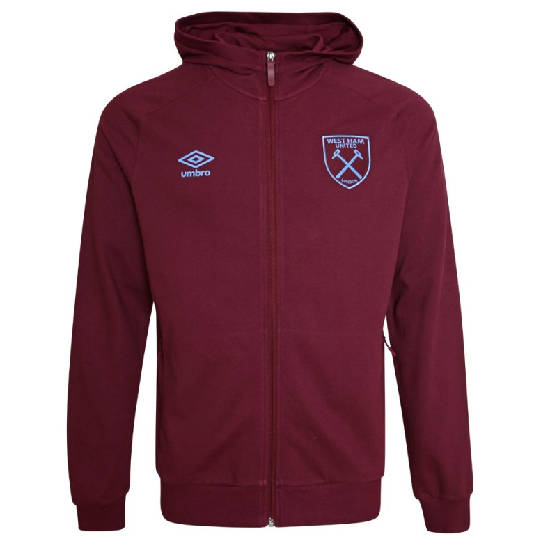WEST HAM 20/21 ADULTS TRAVEL HOODED JACKET