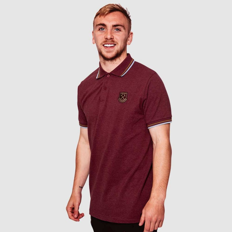WEST HAM 125 - CLARET TIP POLO