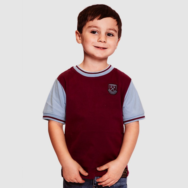 WEST HAM 125 - JUNIOR CLARET VINTAGE T-SHIRT