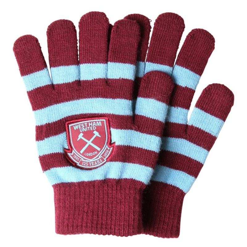 WEST HAM 125 - ADULTS STRIPED GLOVES