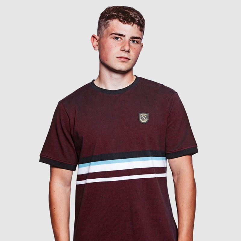 WEST HAM 125 - MULTI STRIPE T-SHIRT